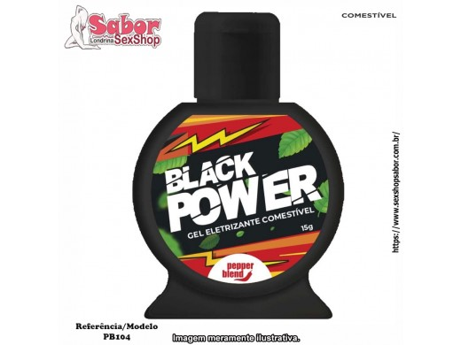 Black Power Gel Eletrizante Comestível 15g Pepper Blend Ref.: PB104