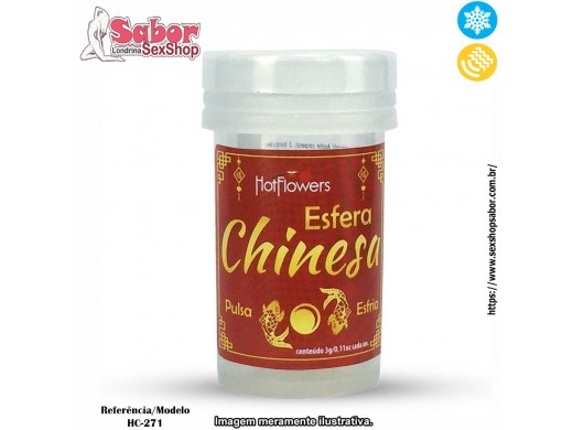 Bolinha Funcional Hot Ball Esfera Chinesa Hot Flowers Ref.: HC-271